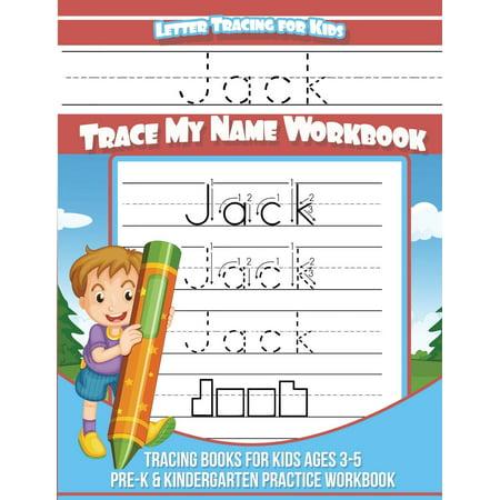 Letter Tracing for Kids Jack Trace My Name Workbook: Tracing Books for Kids Ages 3 - 5 Pre-K & Kindergarten Practice Workbook - Halloween Spelling Practice