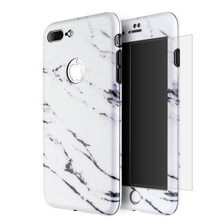 iPhone 7 Plus Full Body Case, Ultra Thin 360 Protection Hybrid Slim Tempered Glass Case for Apple iPhone 7 Plus -