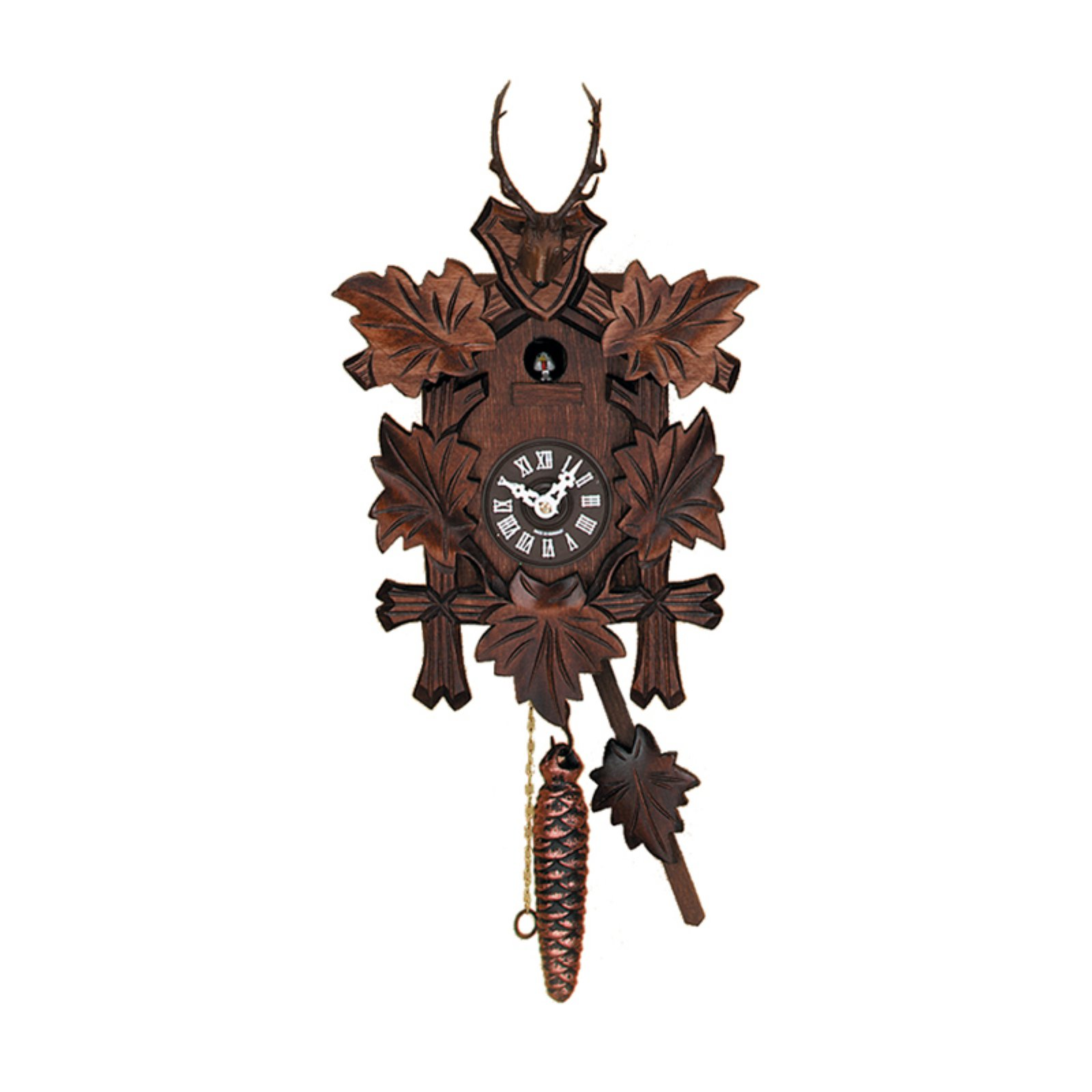 River City Clocks 991-11 with Five Leaves and Buck Hunter's Quarter Call Cuckoo Clock by River City Clocks