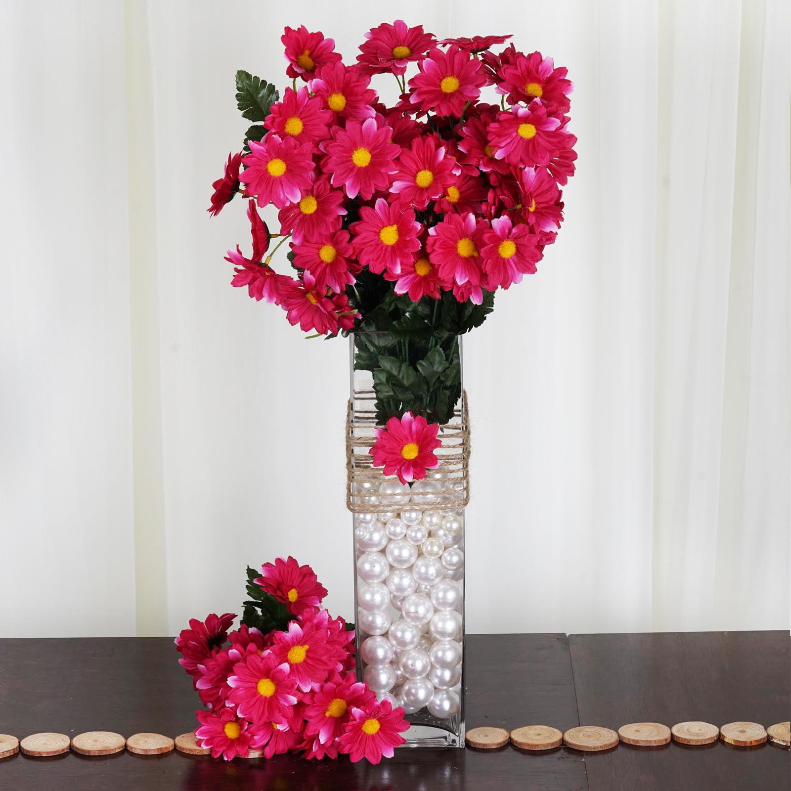 BalsaCircle 88 Silk Gerbera Daisy Flowers - DIY Daisies Home Wedding Party Artificial Bouquets Arrangements Centerpieces
