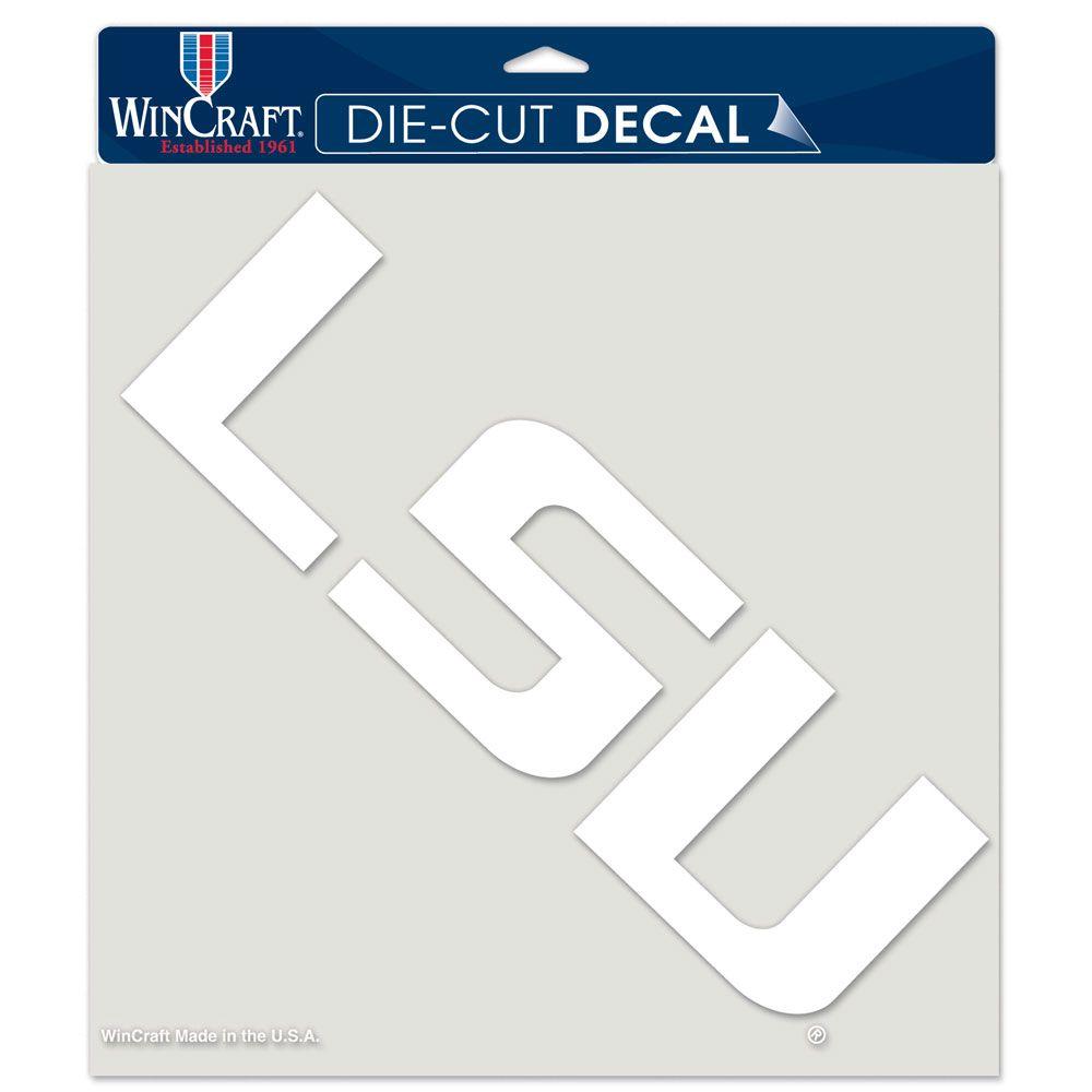 "LSU Tigers Die-Cut Decal - 8""x8"" White"