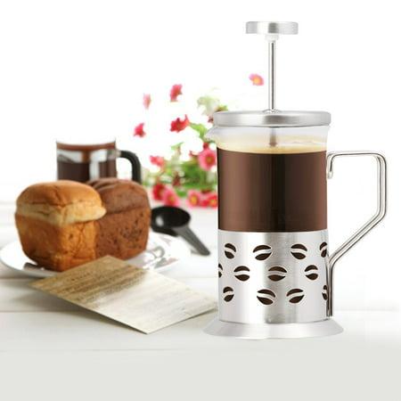 Single Cup French Press - 11 Oz. Coffee & Tea Maker - Coffee Bean
