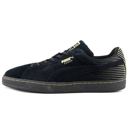 cba59588040 PUMA - Puma Metallic Fade Men Round Toe Suede Black Sneakers ...