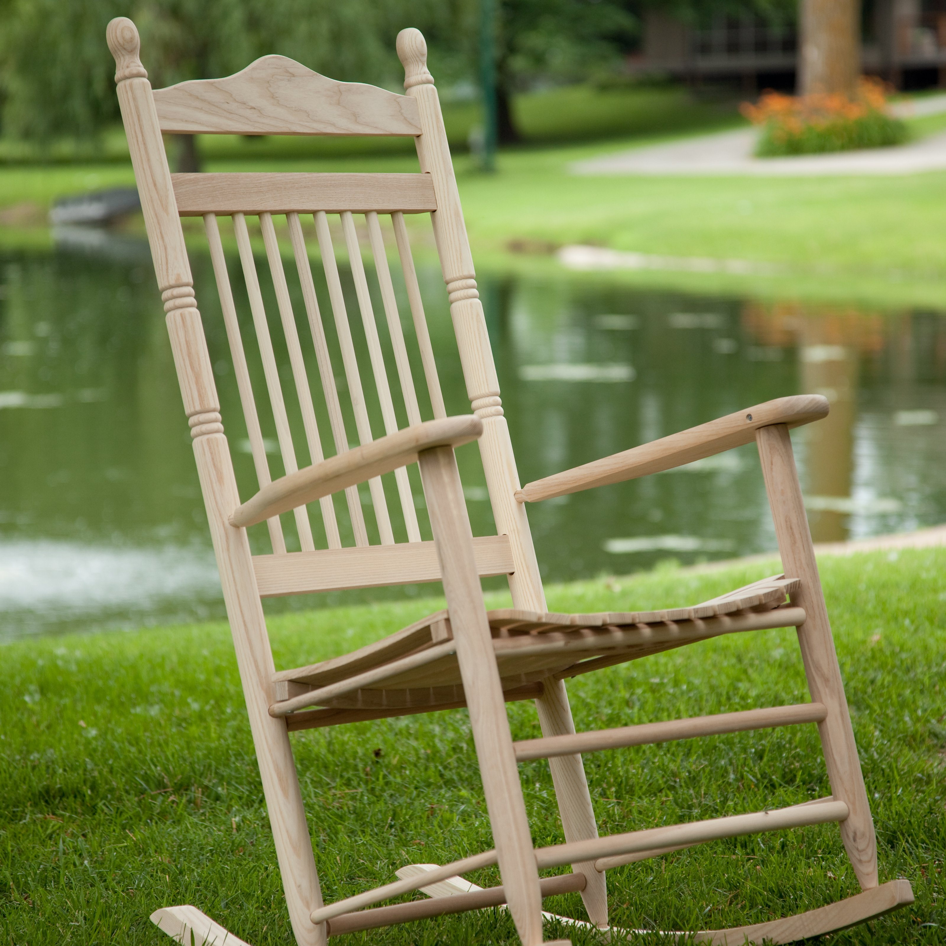 Dixie Seating Indoor/Outdoor Spindle Rocking Chair - Unfinished