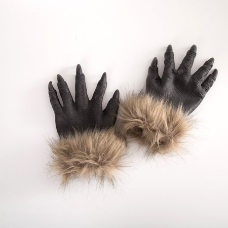 fashionhome Halloween Wolf Hands Claws Latex Horrific Costume Accessory Gloves Creepy Cosplay Tool Scary Decorations - image 6 of 8