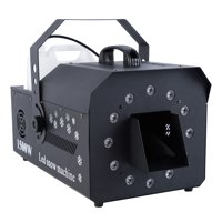 TCMT LED Snow Machine 1500W High Output Snowflake Maker DMX512 RGB 3in1 w/ Wireless Remote Stage Atmospheric Effect