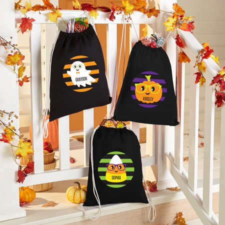 Halloween Treat Baskets Personalized (Personalized Halloween Cuties Treat Bags - Available in 3)