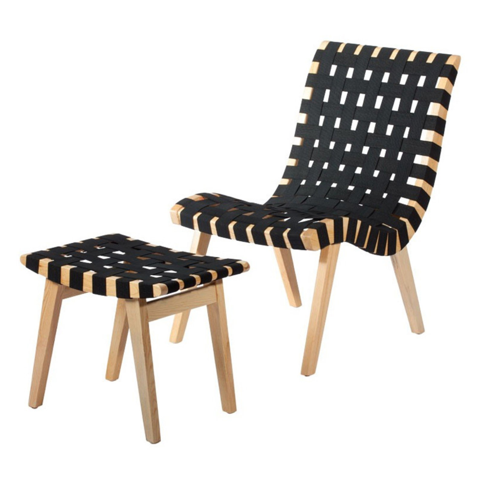 Woven Lounge Chair With Ottoman