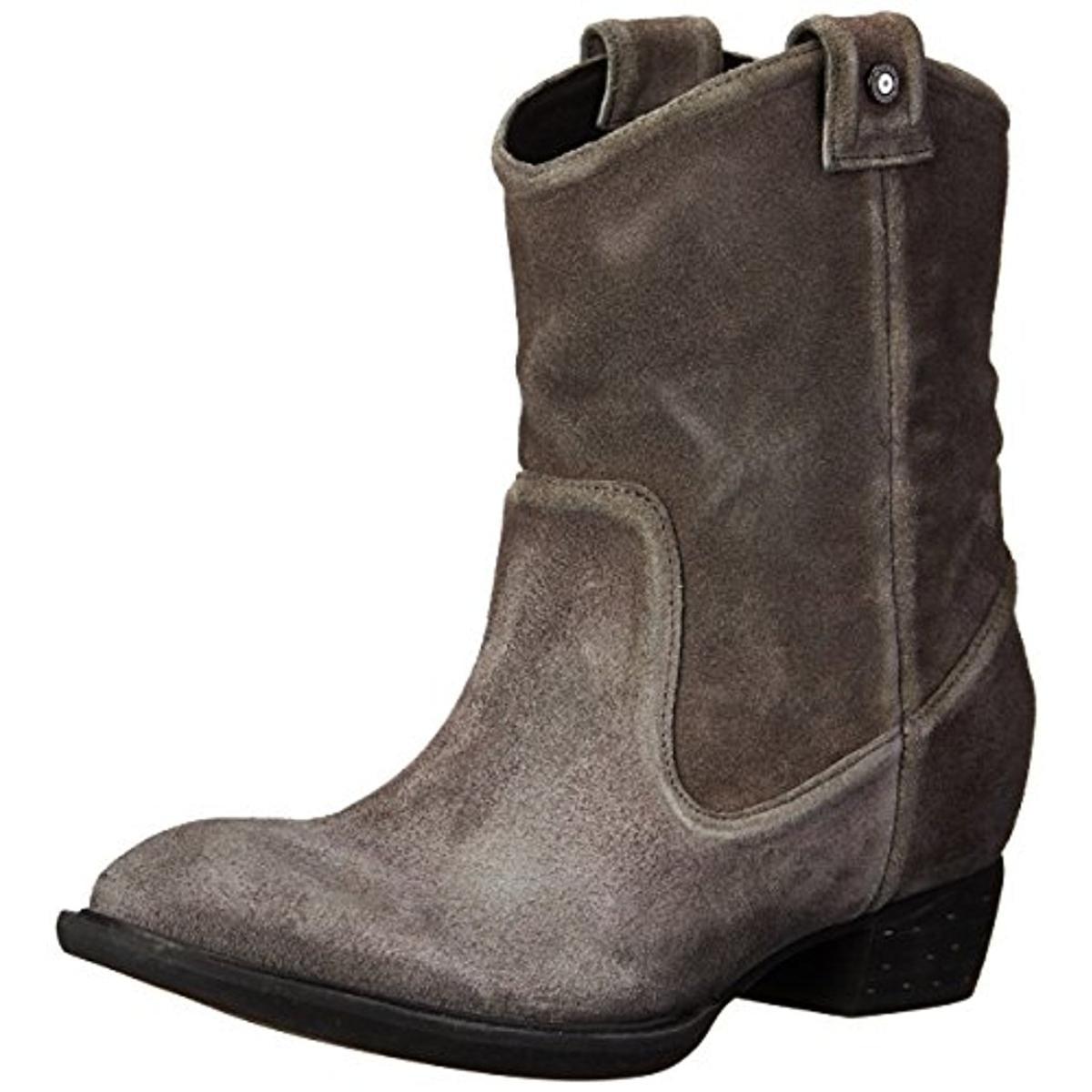 Diesel Womens Ladala Suede Distressed Cowboy, Western Boots