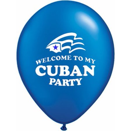 Cuban Party Decorations (Welcome To My Cuban Party Latex  Party Balloons Pack of)