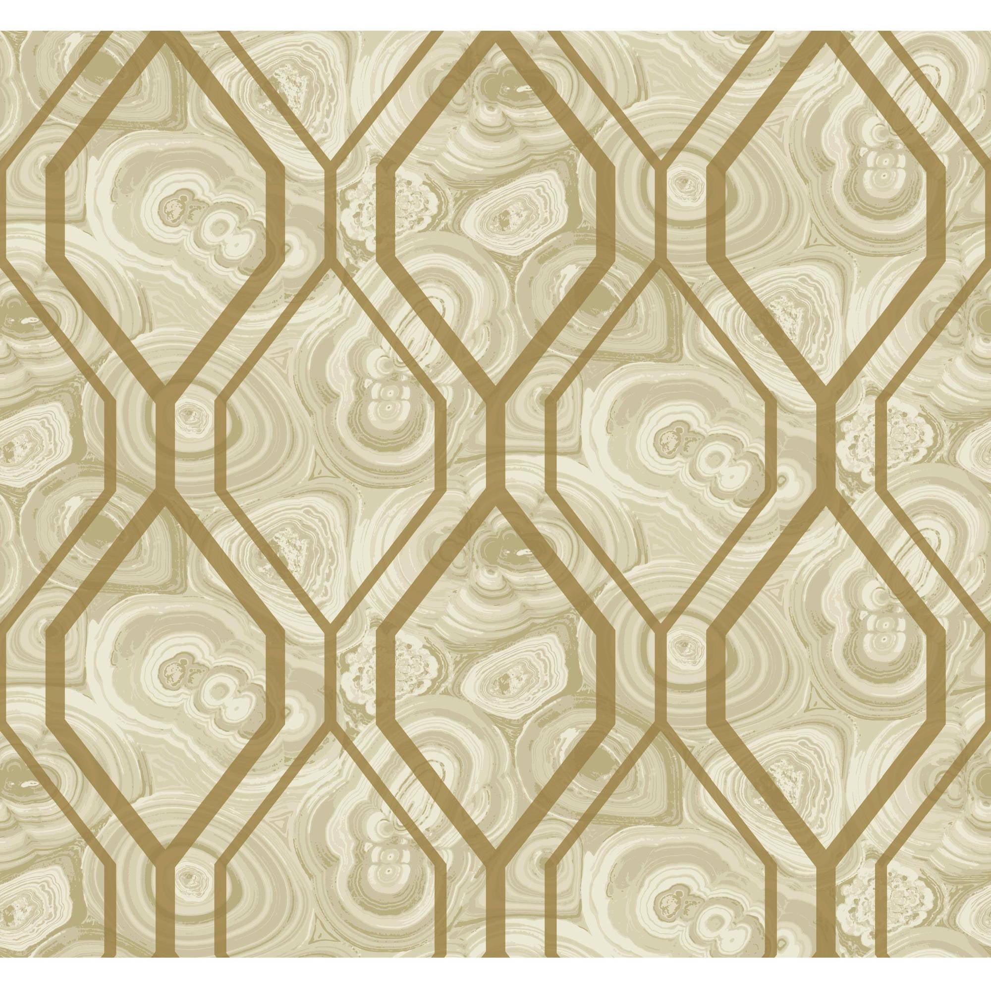 Malachite Trellis Wallpaper