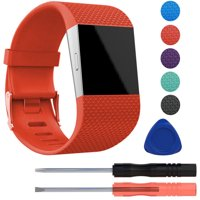 replacement silicone band wrist strap bracelet w/tool kit for fitbit surge large