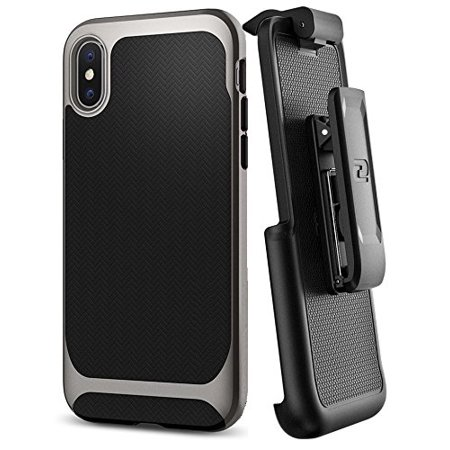 Encased Belt Clip Holster for Spigen Neo Hybrid Case - Apple iPhone X / iPhone Xs (case not Included)