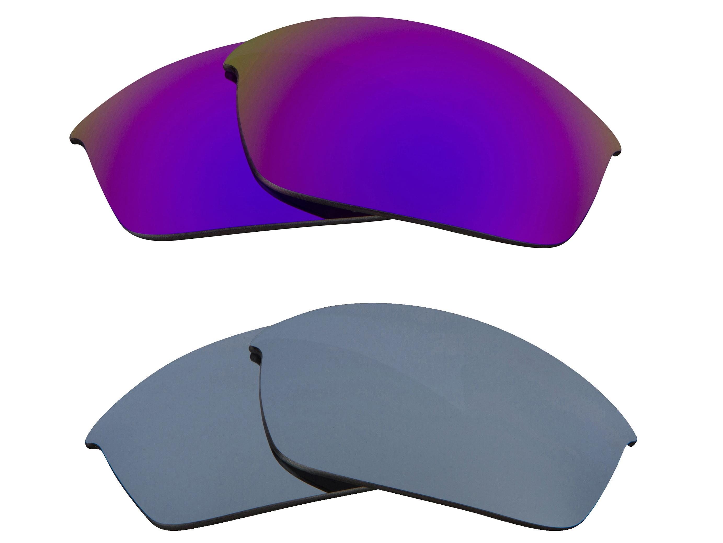 da55bf13f8 FLAK JACKET Replacement Lenses Polarized Silver   Purple by SEEK fits OAKLEY