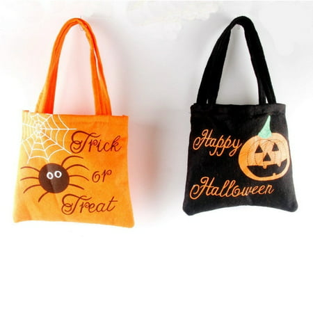Halloween Party Ideas 18-year-olds (Halloween Party Trick or Treat Pumpkin Bag Kids Gift Loot Sweets Candy Tote)