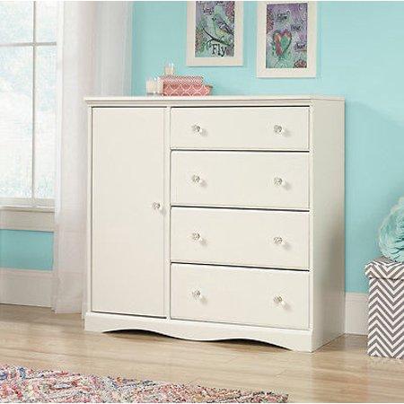 NEW Sauder Furniture 417146 Pogo Bedroom Chifforobe Wardrobe Dresser Soft White [Istilo256395]
