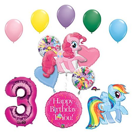 My Little Pony Pinkie Pie and Rainbow Dash 3rd Birthday Party Supplies