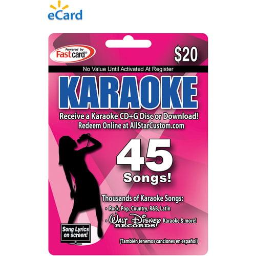 AllStarCustom.com Karaoke eCard $20 (Email Delivery)