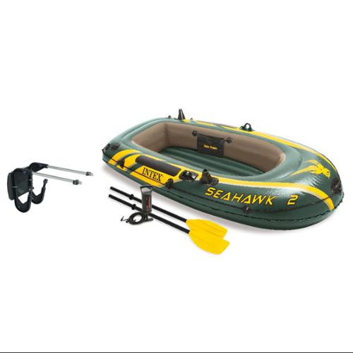 Intex Seahawk 2 Inflatable Boat Set with Oars, Pump & Motor Mount Kit