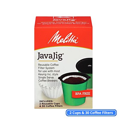 Melitta 63228 JavaJig Starter Kit (Single-Pack) Single Serve Machine Coffee Filters Kit