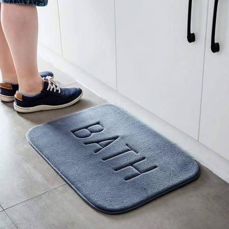 Rugs Vertical Stripes Memory Foam Bath Mat Carpet Floor Mats