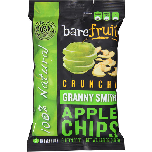 Bare Fruit Crunchy Granny Smith Apple Chips, 1.69 oz, (Pack of 10)