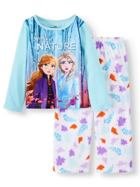 Frozen Toddler Girls Long Sleeve Top & Pants Pajama Set, 2-Piece
