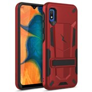 ZIZO TRANSFORM Series for Samsung Galaxy A10e Case - Rugged Dual-layer Protection with Kickstand - Red
