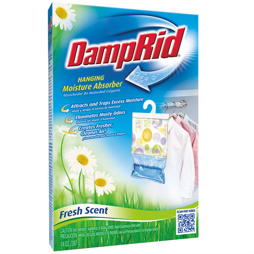 DampRid Hanging Bag Moisture Absorber Fragrance Free  14oz.