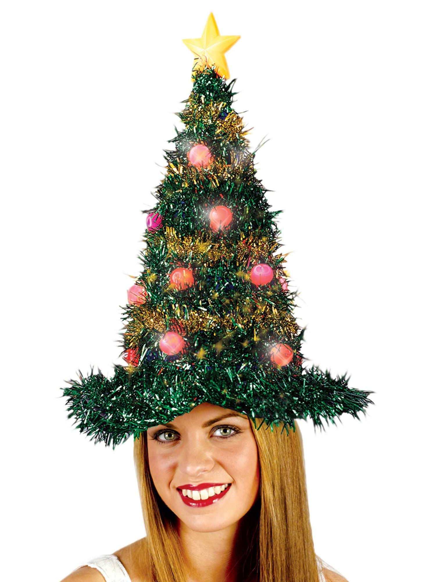 christmas tree light up hat adult halloween accessory walmartcom