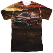 Chevy Silverado In The Mud (Front Back Print) Mens Sublimation Shirt