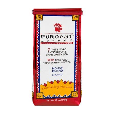Puroast Gound Coffee House Blend, 12.0 OZ