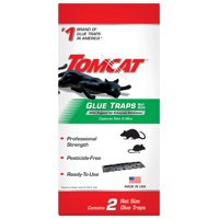 Tomcat Glue Traps Rat Size with Eugenol for Enhanced Stickiness, 2 Traps