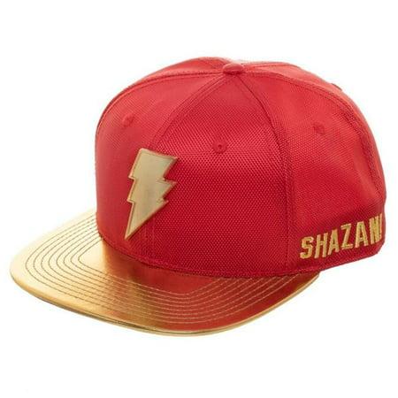 Shazam 111297 Shazam Movie Logo Yellow Brim Hat - image 1 of 1