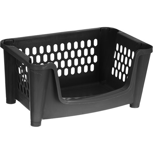 Mainstays Utility Stacking Bin Black Walmart Com