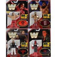 WWE Retro Series 6 - Set of 4 (Bray Wyatt, Daniel Bryan, Shinsuke Nakamura, Sting) Toy Wrestling Action Figures