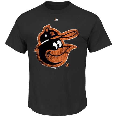 Baltimore Orioles Majestic League Supreme T-Shirt - Black