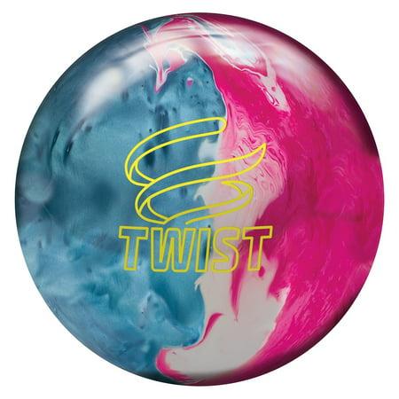 Brunswick Twist Reactive Bowling Ball- Sky Blue/Pink/Snow (Twister Double Ball)