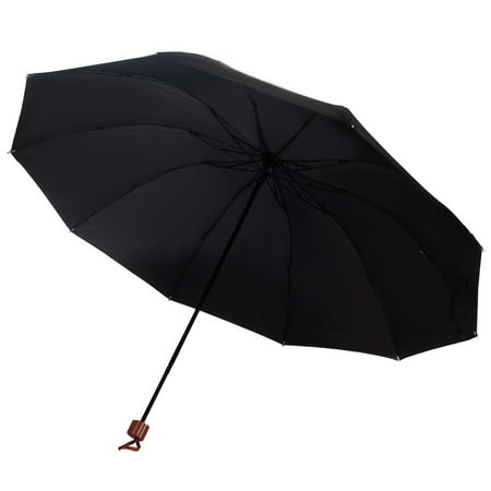 Weather and UV Resistant Wired 10 Frame Two Person Manual Umbrella ()