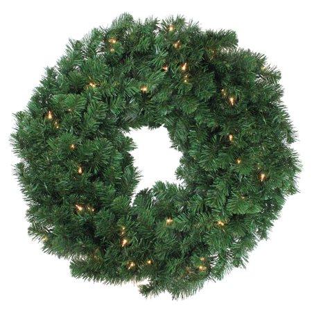 Northlight 30 in. Deluxe Windsor Pine Pre Lit Wreath