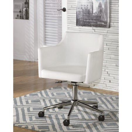 Ashley Baraga Faux Leather Adjustable Office Swivel Chair in