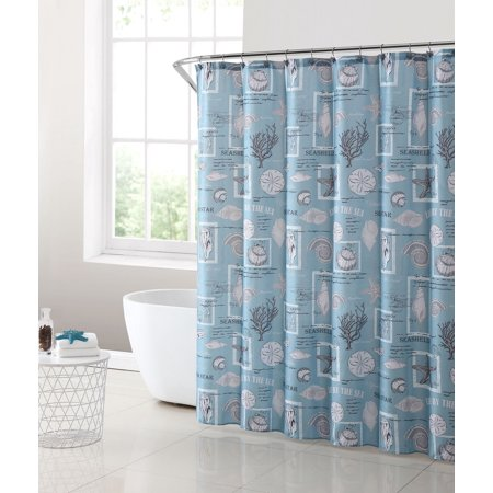 mainstays coastal shower curtain set, 13 piece - walmart