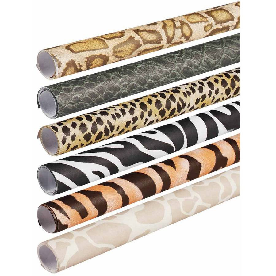 "Pacon Fadeless Assorted Animal Pattern Safari Print Rolls, 24"" x 96"", Pack of 6"