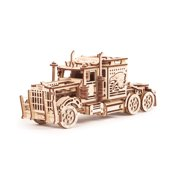Wood Trick Big Rig Mechanical Models 3D Wooden Puzzles DIY Toy Assembly Gears Constructor Kits for Kids, Teens and Adults
