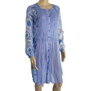 Womens 'Kea' Djellabah Dress, Blue, Size M/40