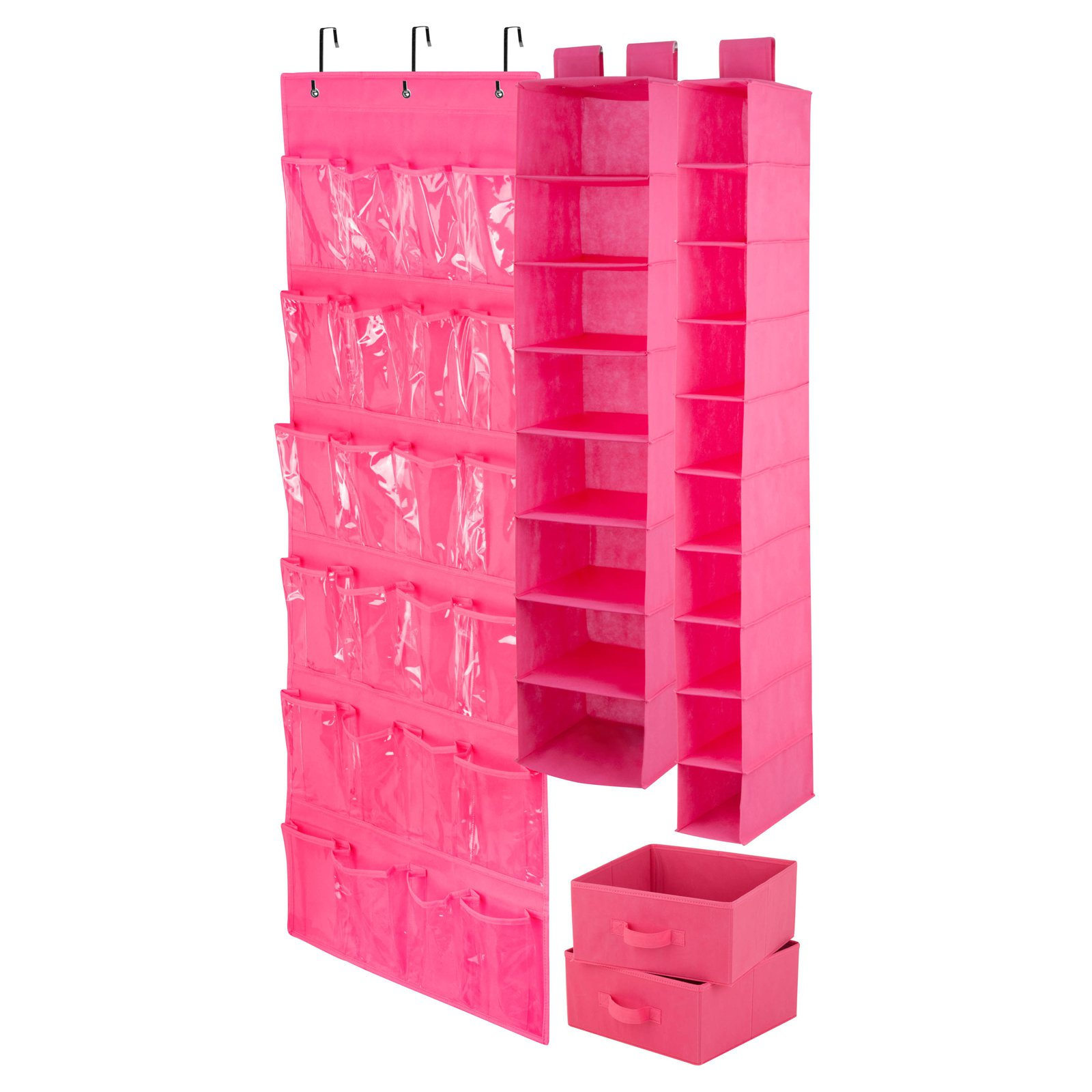 Honey Can Do Room Organization Set, Multicolor (4-Piece Set)