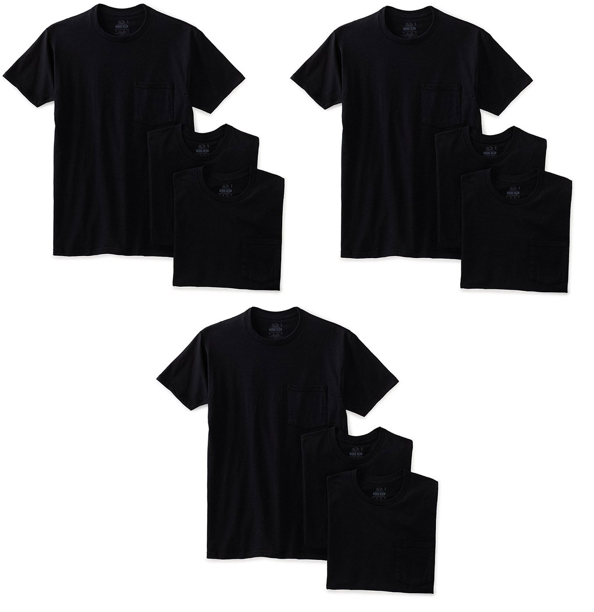 Fruit of the Loom Pack9 Men's Heavy Cotton HD T-Shirt wit...