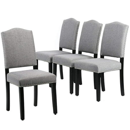 Dining Chairs Armless Room Chair Accent Kitchen Solid Wood