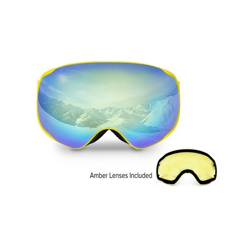 Hustle Audio Ski (Spherion Gear Ski Snow Goggles Included With Detachable Amber Lens )