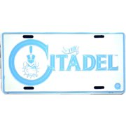 Citadel embossed metal auto tag